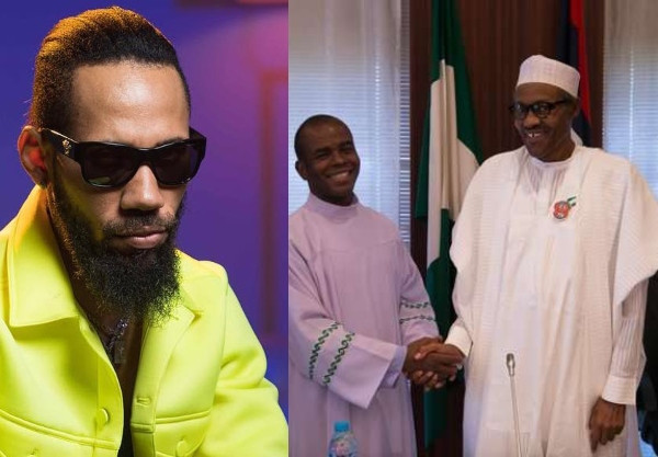 God told you nothing - Phyno calls out Fr. Mbaka over past claim that God told him President Buhari is a 'prayer answered'