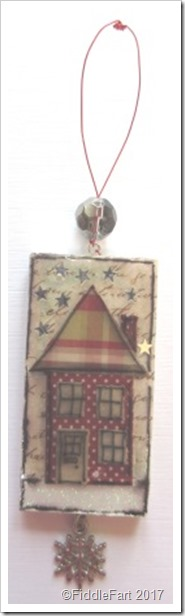 Christmas House Domino Tag