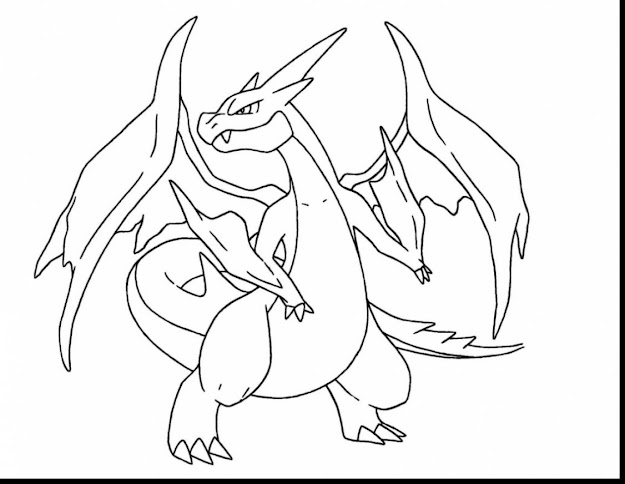 Spectacular Mega Charizard Pokemon Coloring Pages With Charizard Coloring  Pages And Free Printable Charizard Coloring Pages