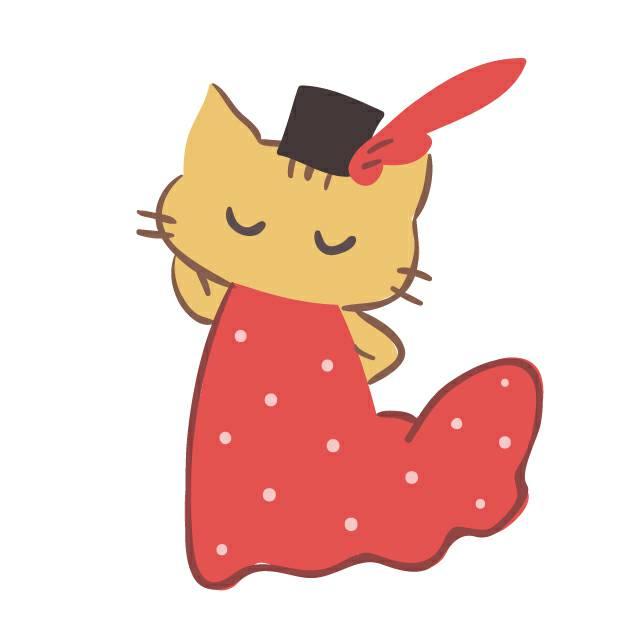 モデルの猫