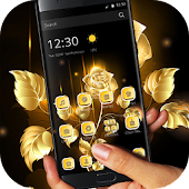 Black Golden Rose Theme