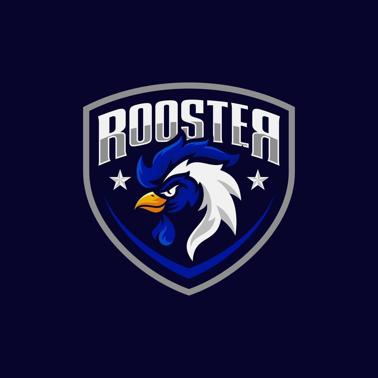 Rooster Mascot Sport Logo Design Free Download Vector CDR, AI, EPS and PNG Formats