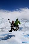 Vasilisa & Joshua Jumping on The Glacier-Probably Not Too Safe! (Perito Moreno Glacier Outside El Calafate, Argentina)