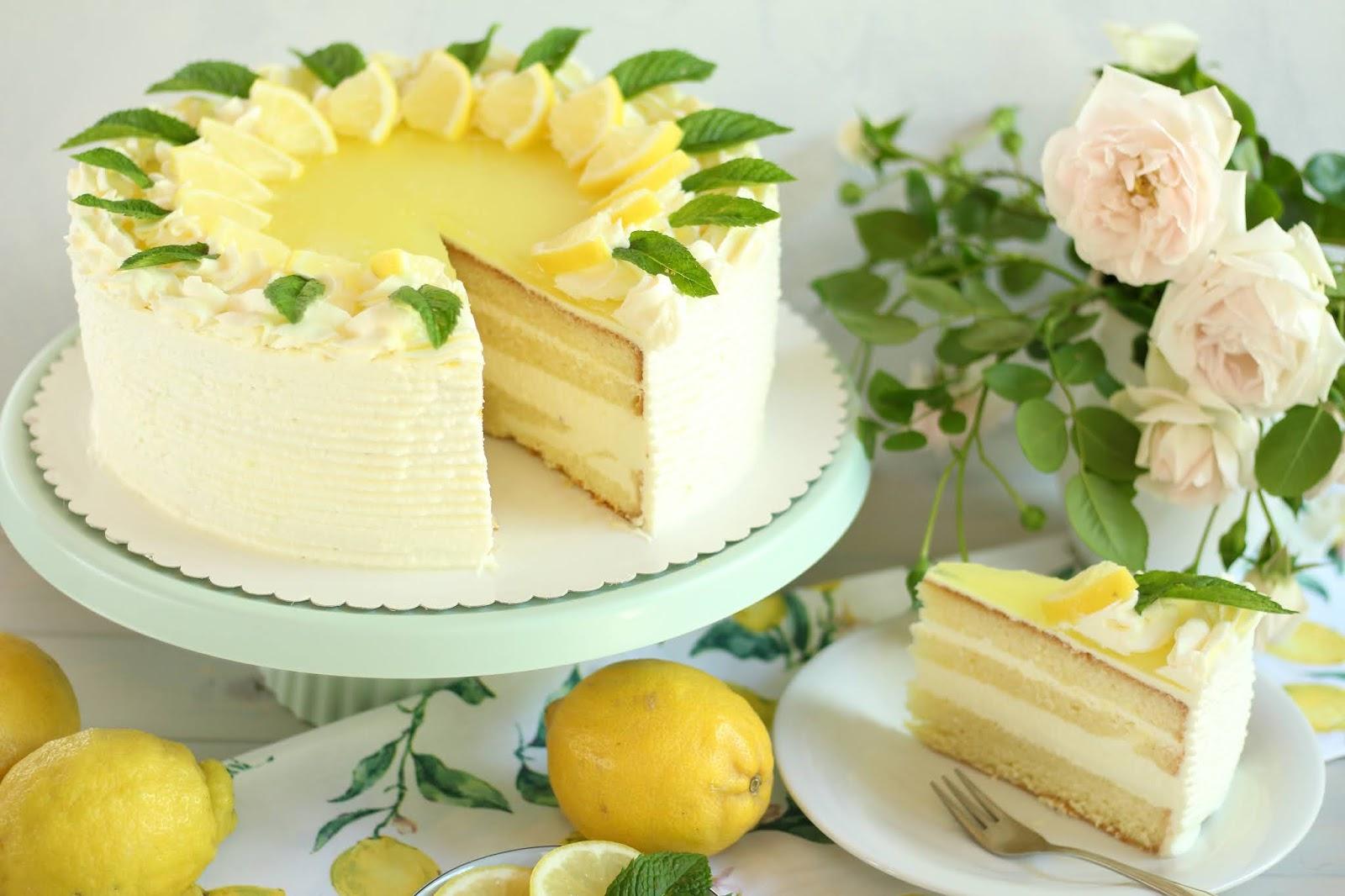 🍋 Super erfrischende Zitronen-Joghurt-Torte mit Götterspeise! 🍋 | Rezept und Video von Sugarprincess
