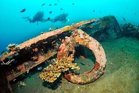 The underwater graveyard.