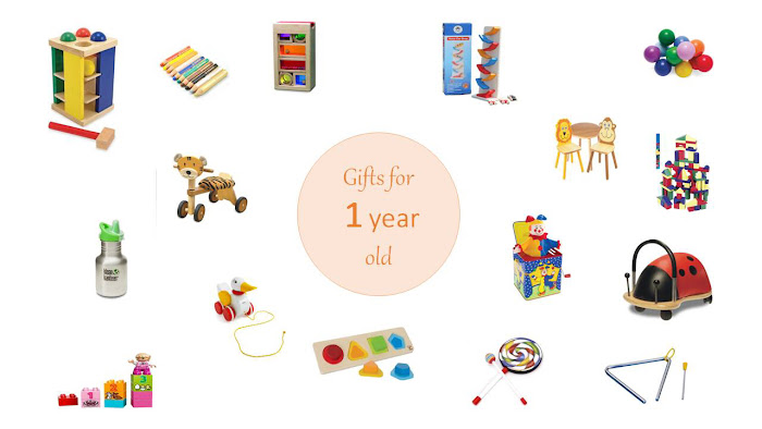 Toys and gifts ideas for a one year old Montessori