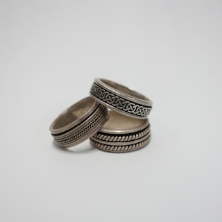 Sterling Silver Spinning Band Ring Trio