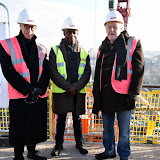 OIC - ENTSIMAGES.COM - Luke Rittner - Chairman LAMDA, Paterson Joseph - LAMDA Graduate and Timothy West CBE - President LAMDA at the  VIP 'topping out' of the new LAMDA building in London 20th January 2015 Photo Mobis Photos/OIC 0203 174 1069