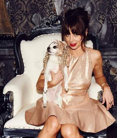 Natasha Leggero with a cute puppy