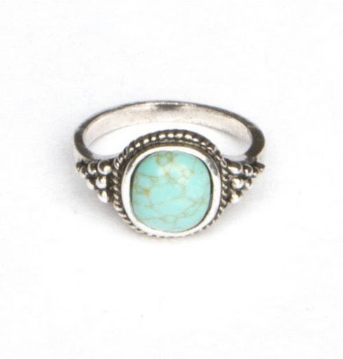 Silver Turquoise Stone Ring [SOURCE]