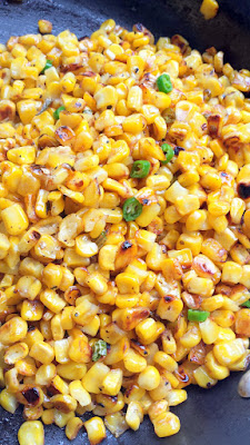 For my version of this Mexican Corn Dip recipe, make sure you char the corn by being patient before stirring
