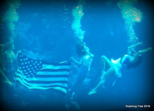 Mermaid tribute to the military