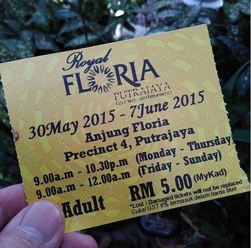 harga tiket dewasa royal floria 2015