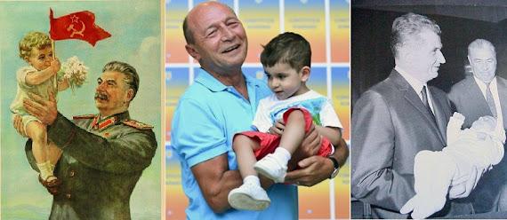 Băsescu, Stalin, Ceauşescu + copil