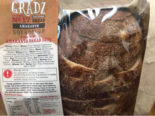 Gradz Handcrafted Amaranth Sourdough Bread