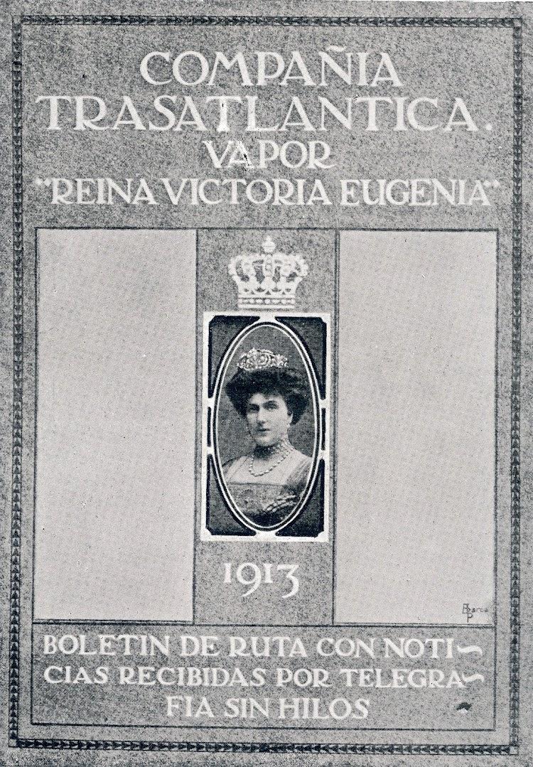 36-Portada del primer numero del Boletín del Atlántico. Editado por el Sr. Agacino, e impreso a bordo. Revista La Vida Maritima. Año 1913.jpg