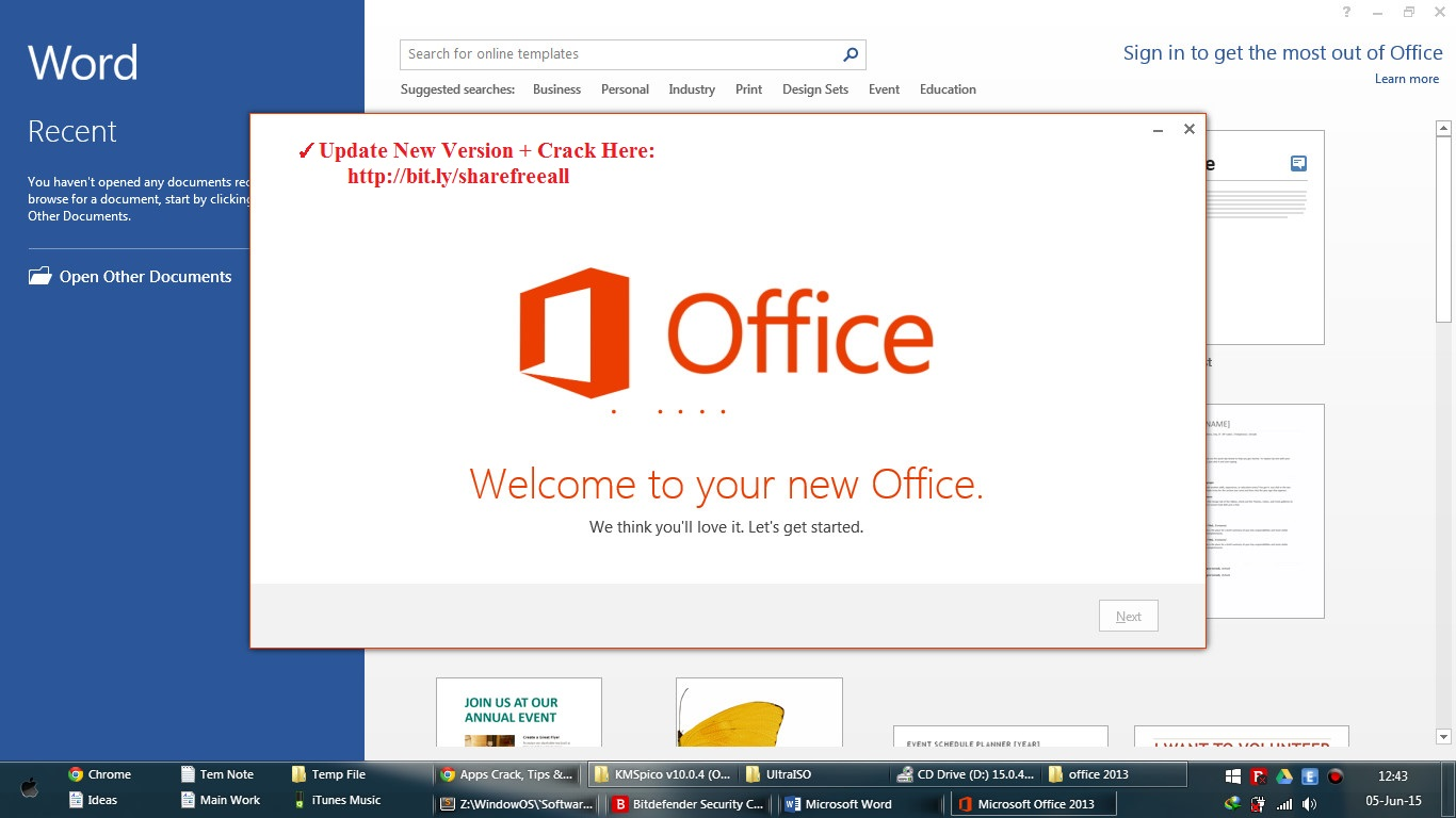 how to activate microsoft office 2013 crack version