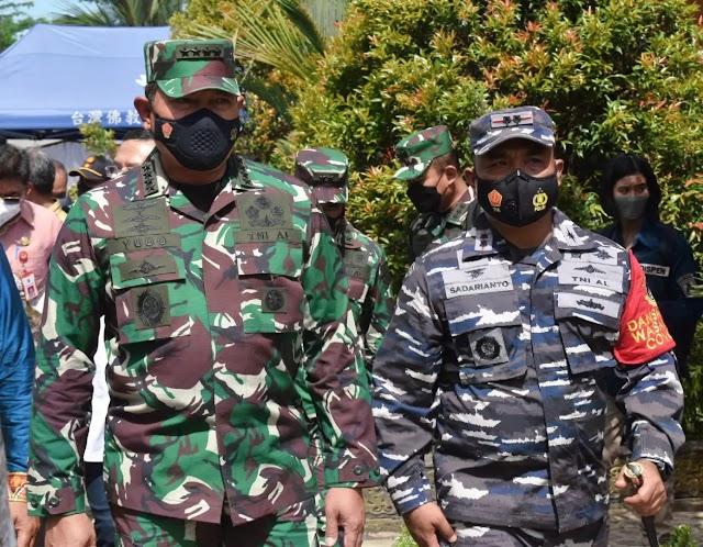 Didampingi Danlanal Kotabaru, KSAL Kunjungi Wilayah Kerja Lanal Kotabaru