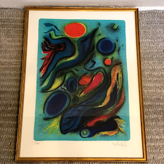 Signed Contemporary Abstract Lithograph