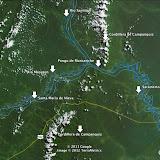 La Cordillère de Campanquiz et le confluent du Rio Maranon et du Rio Santiago