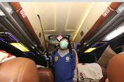 Cegah penyebaran Covid-19, Dishub Aceh Lakukan Penyemprotan Disinfektan Pada Bus (AKAP)