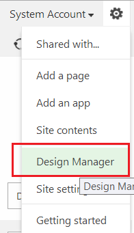 Enable Design Manager in SharePoint 2013 Team Site