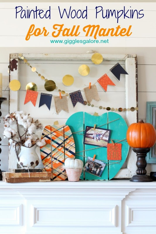 Painted-Wood-Pumpkins-for-Fall-Mantel_Giggles-Galore
