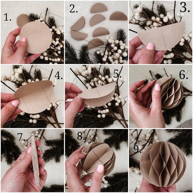 jak zrobic bombki z papieru
