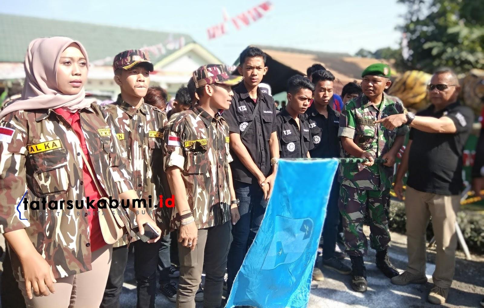 Koramil 0706 dan GM-FKPPI Rayon Gunungpuyuh Sukabumi Semarakan HUT RI ke-74