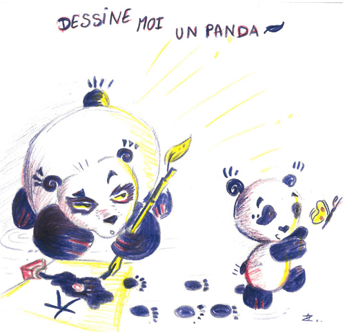 dessine moi un panda