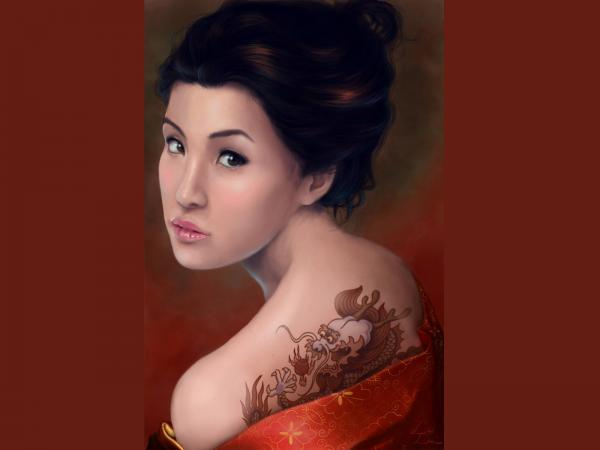 Samurai Beauty Of Dragon, Magic Samurai Beauties