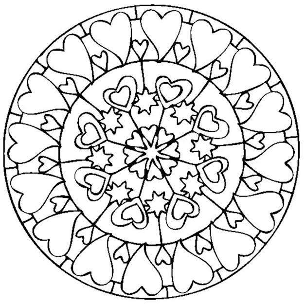 Mandala Valentines Day Love Free To Print