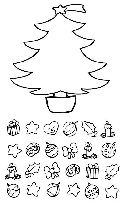 Dibujos de navidad para colorear con modelo - Dibujos para pintar navidad ...