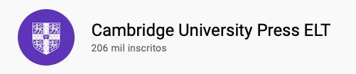101 canais do YouTube para aprender inglês de graça Cambridge University Press ELT