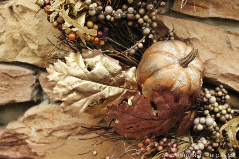 Fall Wreath details