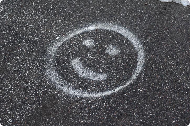 Smil på asfalten