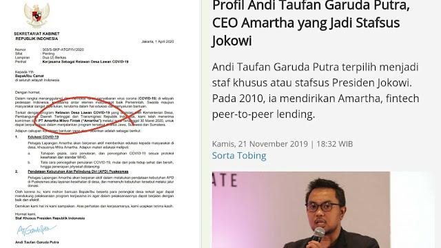 Langkah Stafsus Jokowi Surati Camat dan Bawa-bawa Perusahaan Miliknya, Bisa Masuk Delik Korupsi