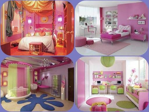 女の子の寝室を飾ります