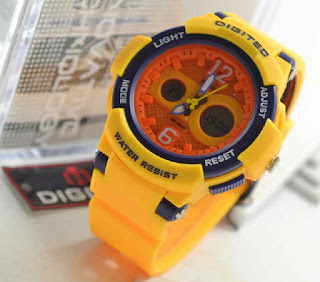 Jam Digitec 2096 ladies yellow rubber