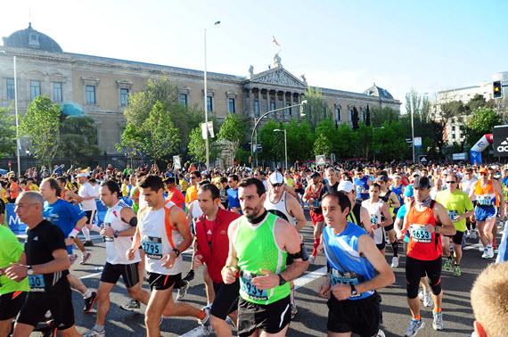 Cortes de tráfico por Maratón de Madrid. Domingo 26 de abril