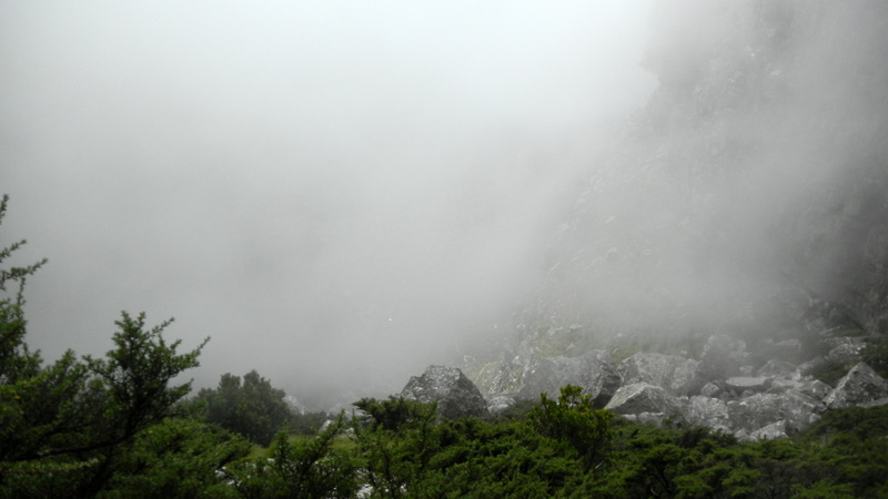 Entering the clouds on Table Mountain