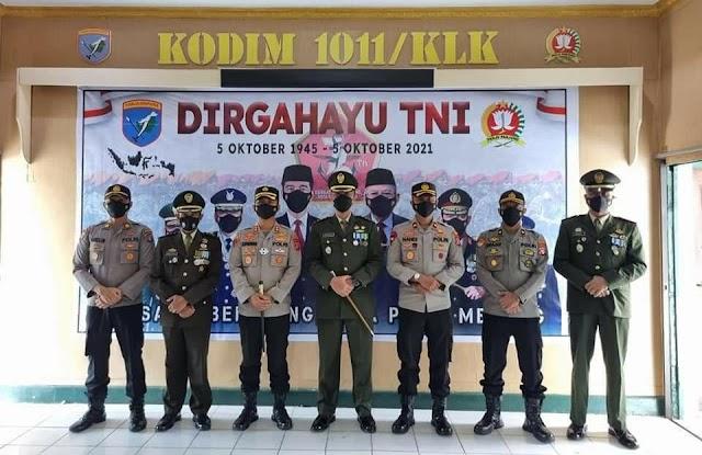 Dirgahayu ke-76 TNI, Kapolres Pulang Pisau Sambangi Kodim 1011 Kuala Kapuas