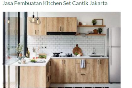 Jasa Pembuatan Kitchen Set Custom yang Berkualitas di Jakarta dan Sekitarnya