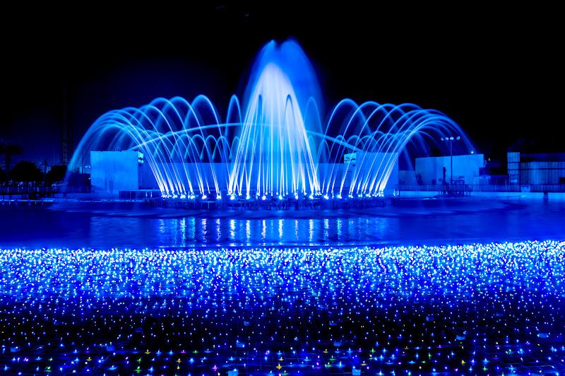 よみうりランド イルミネーション 噴水ショー3
