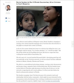20160305_0800 Bernie Sanders to Run 5-Minute Documentary Ad on Univision to Court Hispanics (NYT).jpg