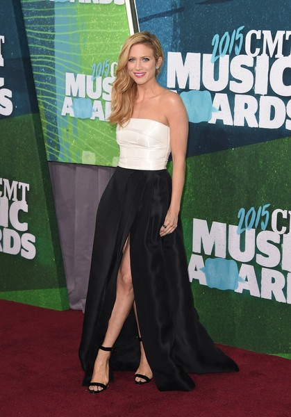 Brittany Snow attends the 2015 CMT Music awards