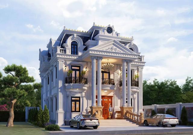 Thiết kế biệt thự tân cổ điển tuyệt đẹp tại Sóc Trăng