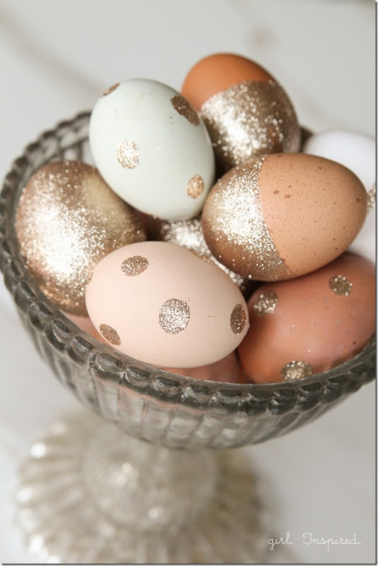 Pasqua fai da te con uova glitter