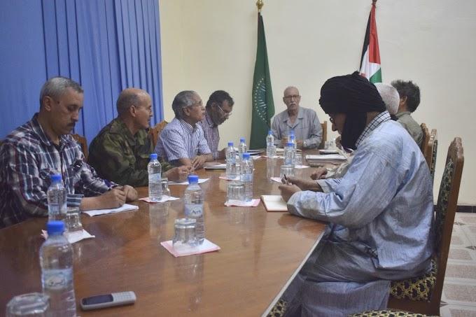 Brahim Gali preside una reunión del Buró permanente del Secretariado Nacional Saharaui