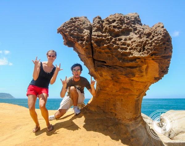 Taiwan Road Trip! Yehliu Geopark - crazy rocks